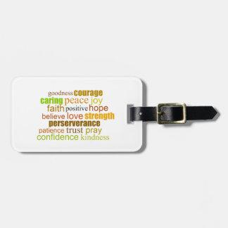 Positive Word Art Bag Tag