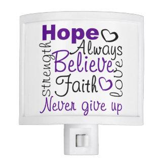 Positive Words of Encouragement Night Light