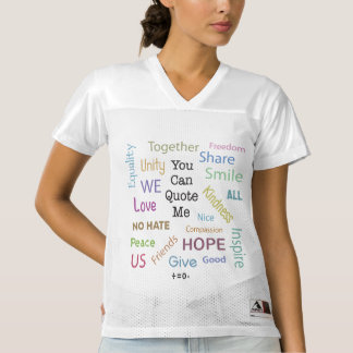 Positive Words Quote Resist Hate Women's Football Jersey