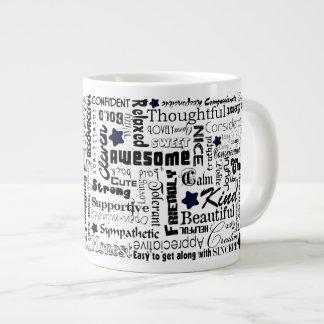 Positive words typography jumbo mug