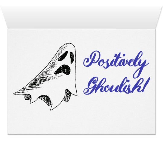 """Positively Ghoulish"" Halloween Greeting Card"