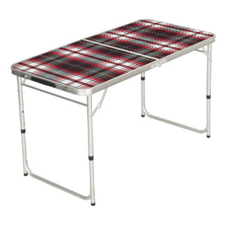 Positively Plaid Tailgate Table