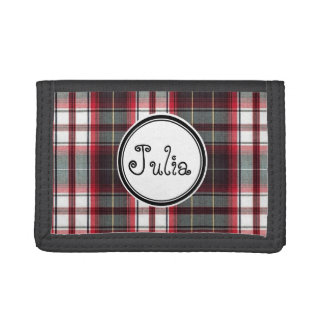 Positively Plaid Tri Fold Wallet