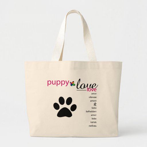 PositivEnergy Puppy Love Tote Tote Bags