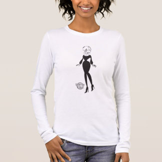 Positivity Girl™ BW Ladies' Fitted LS Tee