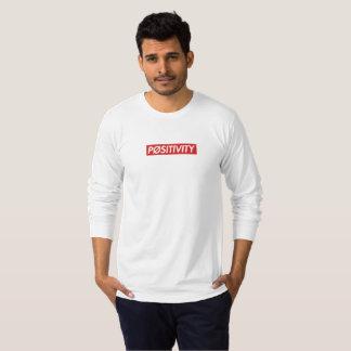 """PØSITIVITY"" White Long sleeve T-Shirt"