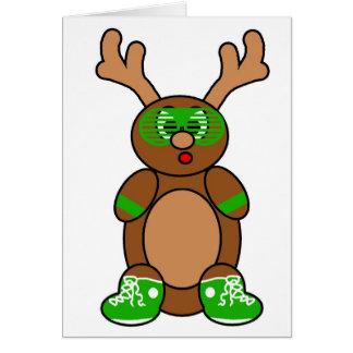 posse deer green greeting card