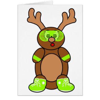 posse deer lime greeting card