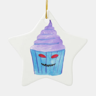 Possessed Cupcake Ceramic Star Ornament