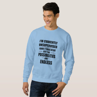 possibilities are endless funny career change sweatshirt