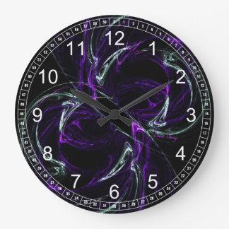 Possibilities - Cosmic Amethyst Abstract WallClock