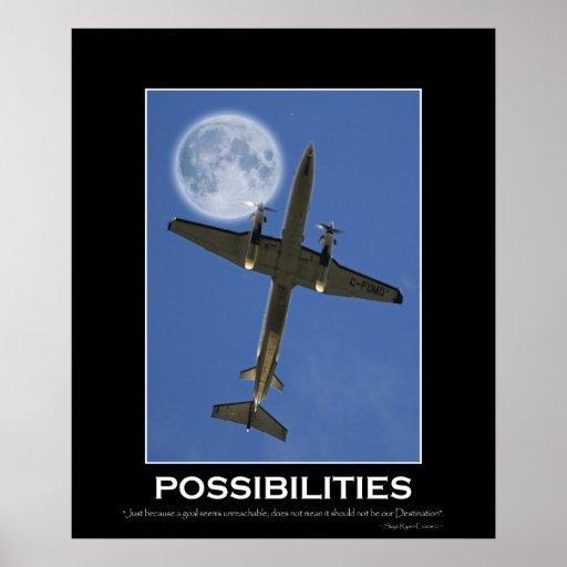 POSSIBILITIES Motivational Aeroplane Photo Poster