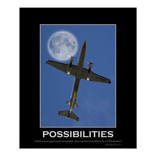 POSSIBILITIES Motivational Aeroplane Photo Poster
