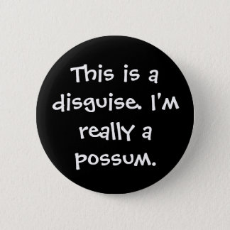 Possum Costume 2 Inch Round Button
