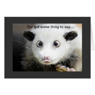 Possum Design Card