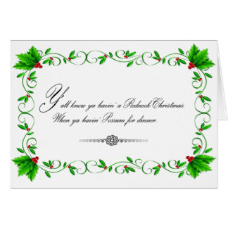 Possum Dinner Christmas card (White)
