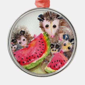 Possum Family Picnic Ornament