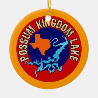 Possum Kingdom Lake, Texas Round Ceramic Ornament