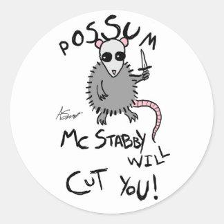 Possum McStabby Stickers