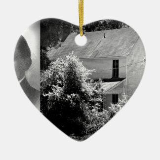 Possum Poke home of Governor Chase S. Osborn Ceramic Heart Ornament