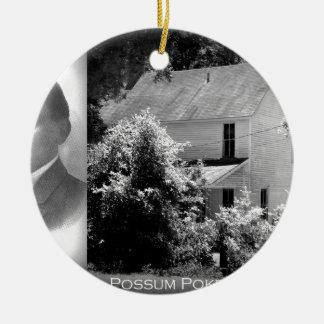 Possum Poke home of Governor Chase S. Osborn Round Ceramic Ornament