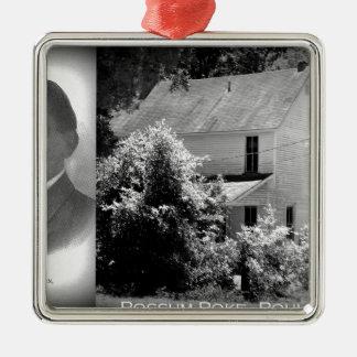 Possum Poke home of Governor Chase S. Osborn Silver-Colored Square Ornament