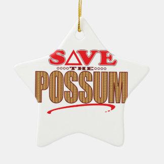 Possum Save Ceramic Star Ornament