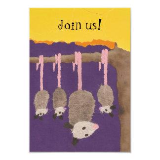 """""""Possums"""" invite card"""