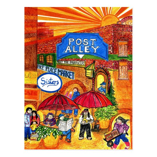 Post Alley Postcard