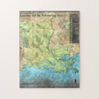 Post-Apocalyptic Blues Puzzle of Louisiana