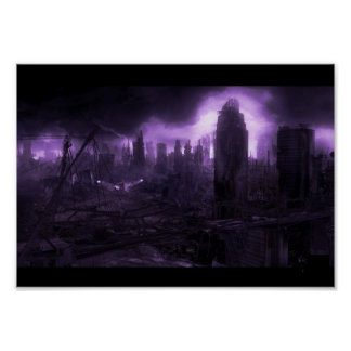 Post Apocalyptic City Poster