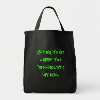post-apocalyptic life skill tote bag