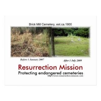 Post card~~Brick Mill Cemetery Postcard