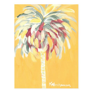 Post Card- Canary Yellow Palm Tree Postcard