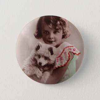 Post Card Romantic 2 Inch Round Button