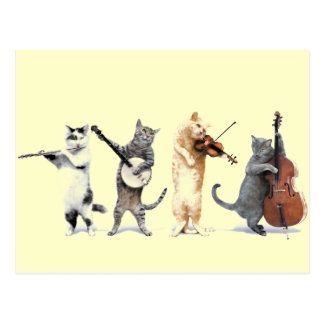 Post Card Singing Cats Meow Meow Meow