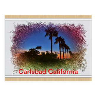 Post card Sunset in Carlsbad, California