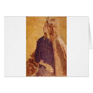 Post-Impressionism Art Girl in Profile - Gwen John Card