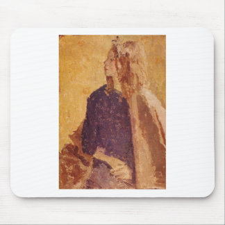 Post-Impressionism Art Girl in Profile - Gwen John Mouse Pad