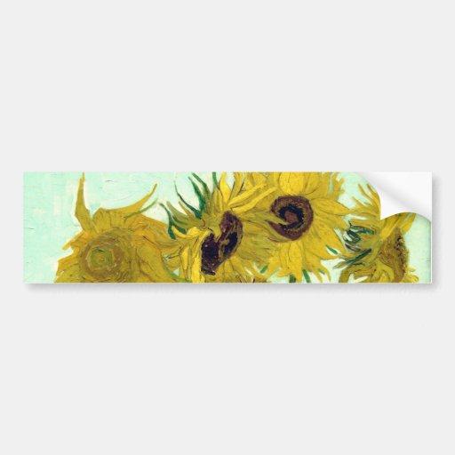 Post impressionnisme de tournesols du vase 12 à Va Adhésifs Pour Voiture