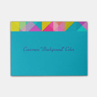 Post It - Bright Geometric Pattern Customize Post-it Notes