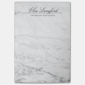 Post-it® Concepteur de luxe de marbre blanc moderne
