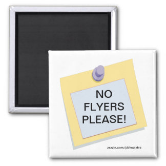 Post-it No Flyers Please Magnet