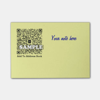 Post-it note with QR code