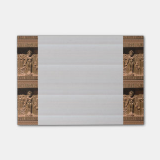 """Post-it® Notes 4"""" x 6"""" Crazy Egyptian Idol Statues Sticky Note"""