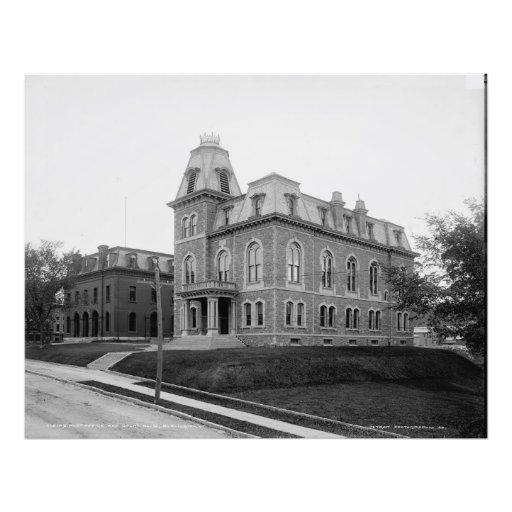 Post office and court house, Burlington, Vt. Art Photo