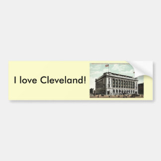 Post Office Cleveland Ohio 1910 Vintage Car Bumper Sticker