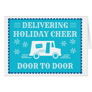 Post Office Postal Worker Holiday Thank You Card