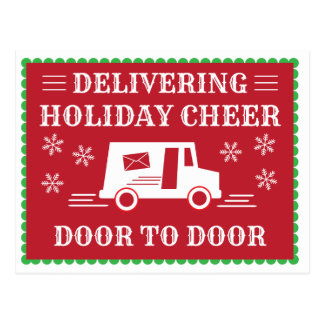 Post Office Postal Worker Holiday Thank You Postcard