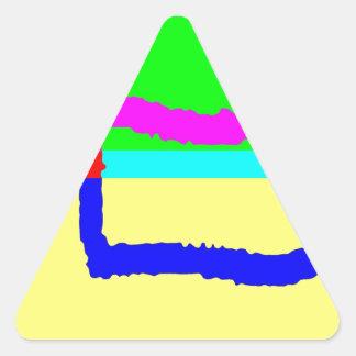 Post Pencil B Triangle Sticker